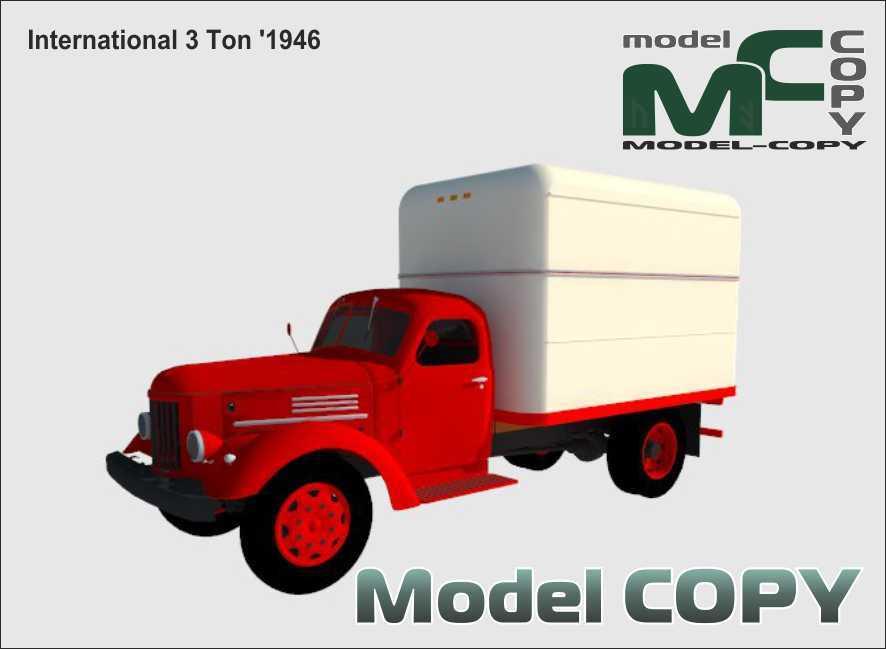 International 3 Ton '1946 - 3D Model