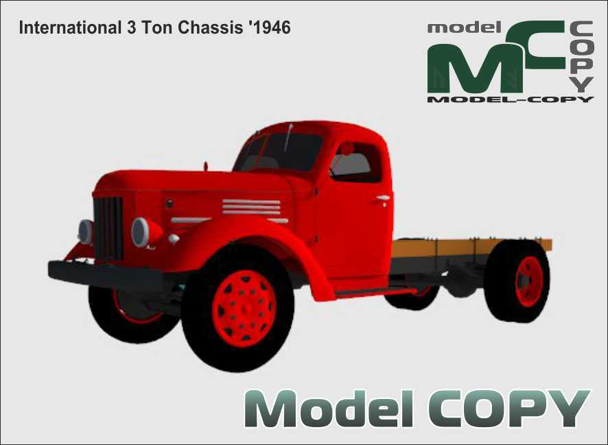 International 3 Ton Chassis '1946 - 3D Model