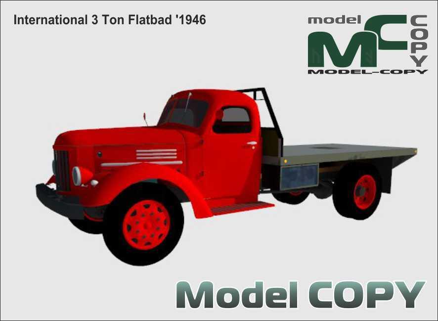 International 3 Ton Flatbad '1946 - 3D Model