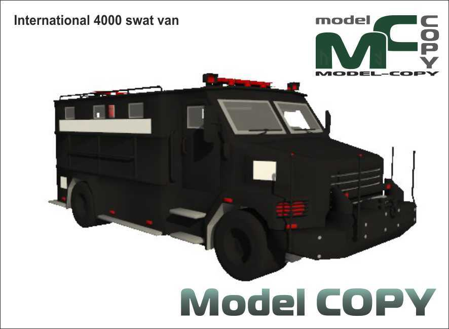 International 4000 swat van - 3D Model