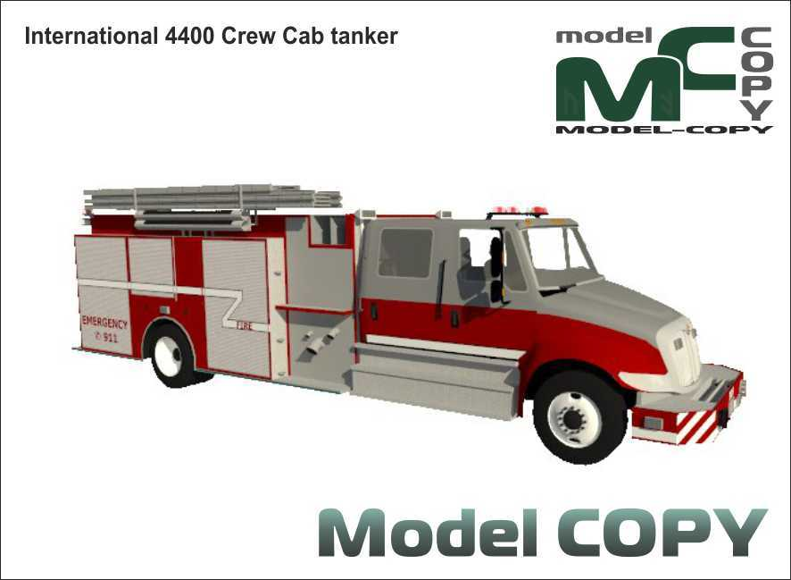 International 4400 Crew Cab tanker - 3D Model