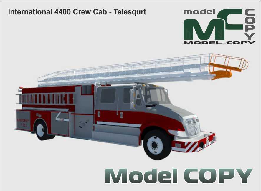 International 4400 Crew Cab - Telesqurt - 3D Model