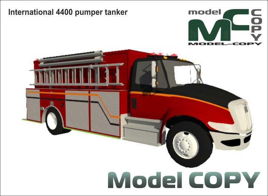 International 4400 pumper tanker - 3D Model