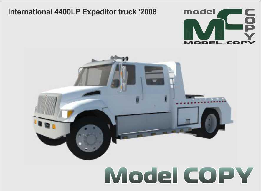 International 4400LP Expeditor truck '2008 - 3D Model