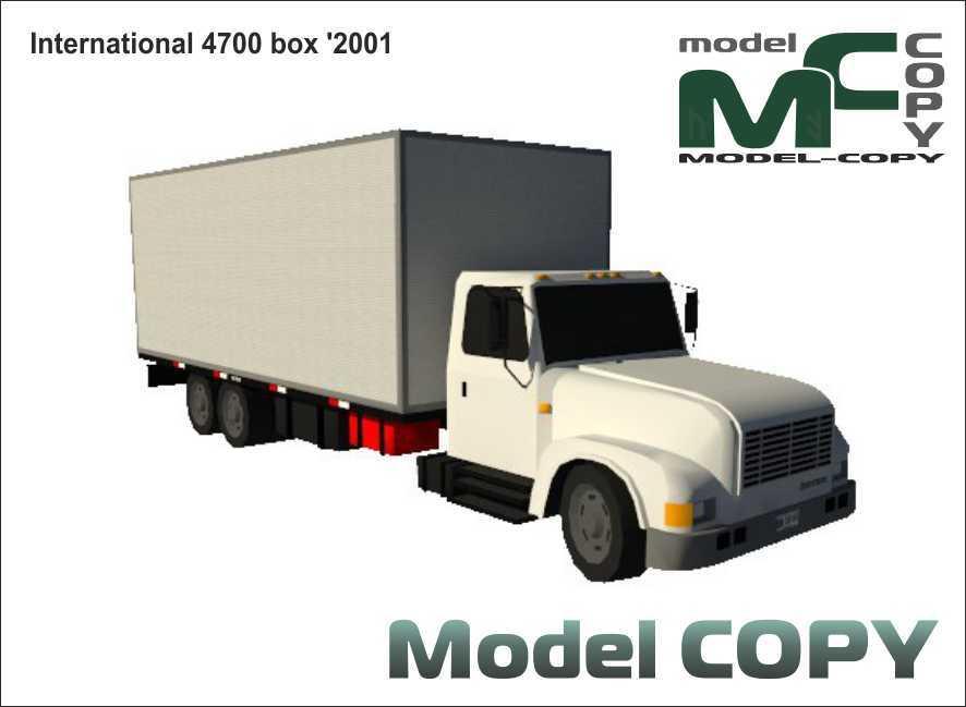 International 4700 box '2001 - 3D Model