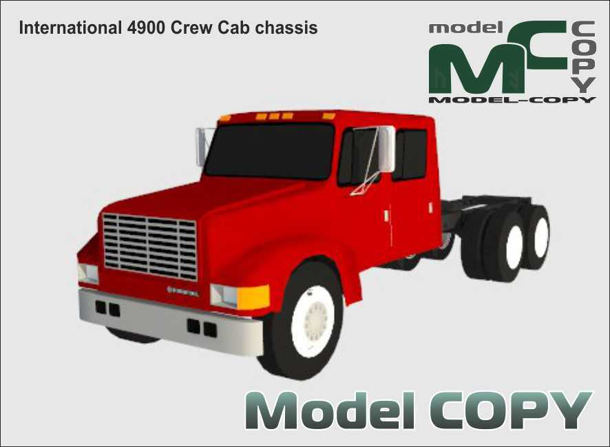 International 4900 Crew Cab chassis - 3D Model
