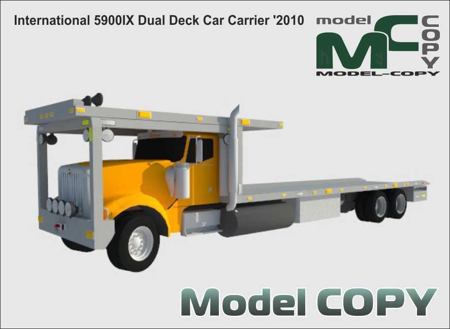 International 5900IX Dual Deck Car Carrier '2010 - 3D Model