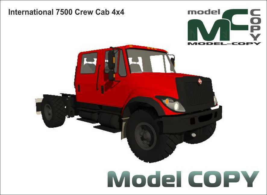 International 7500 Crew Cab 4x4 - 3D Model