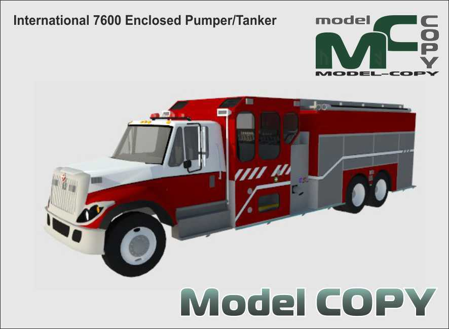 International 7600 Enclosed Pumper/Tanker - 3D Model