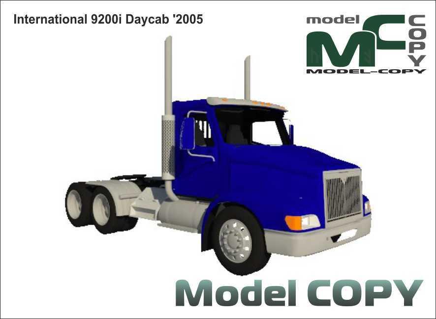 International 9200i Daycab '2005 - 3D Model
