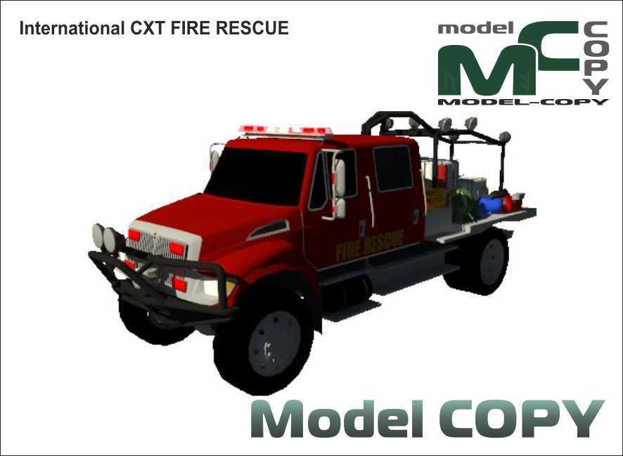 International CXT FIRE RESCUE - 3D Model