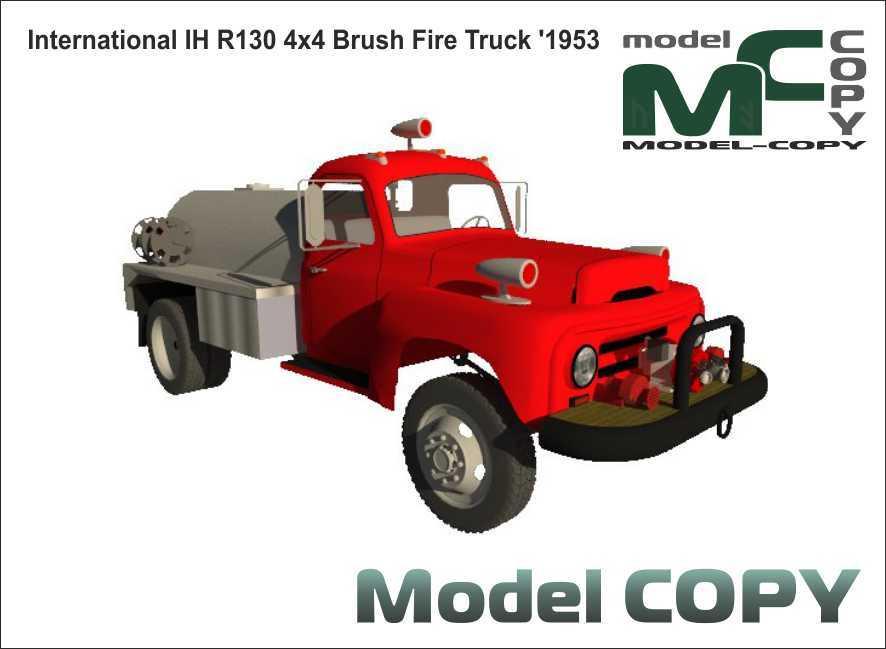 International IH R130 4x4 Brush Fire Truck '1953 - 3D Model