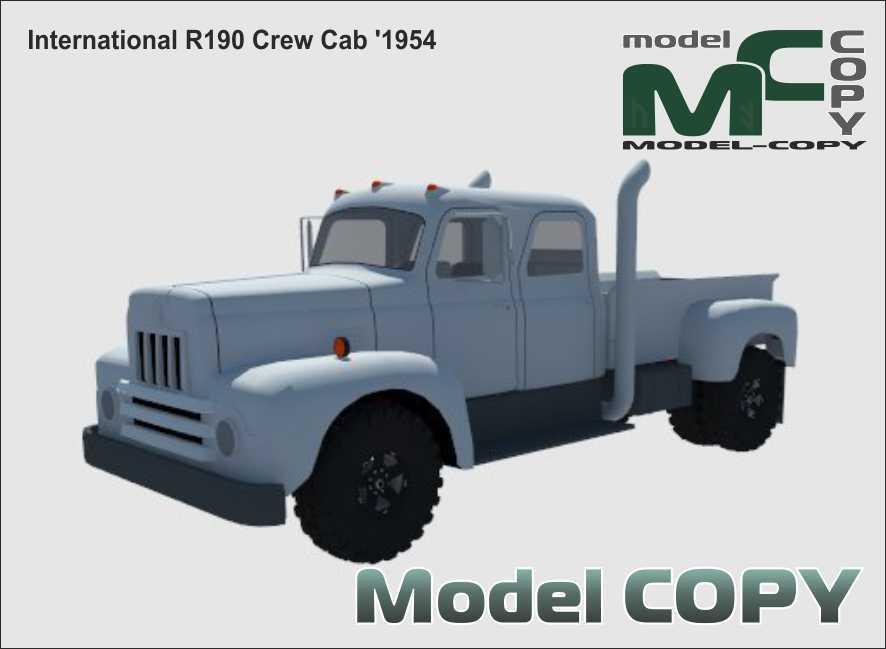 International R190 Crew Cab '1954 - 3D Model