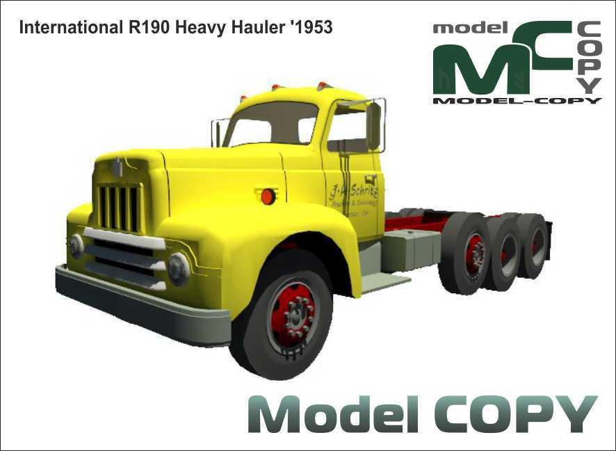 International R190 Heavy Hauler '1953 - 3D Model