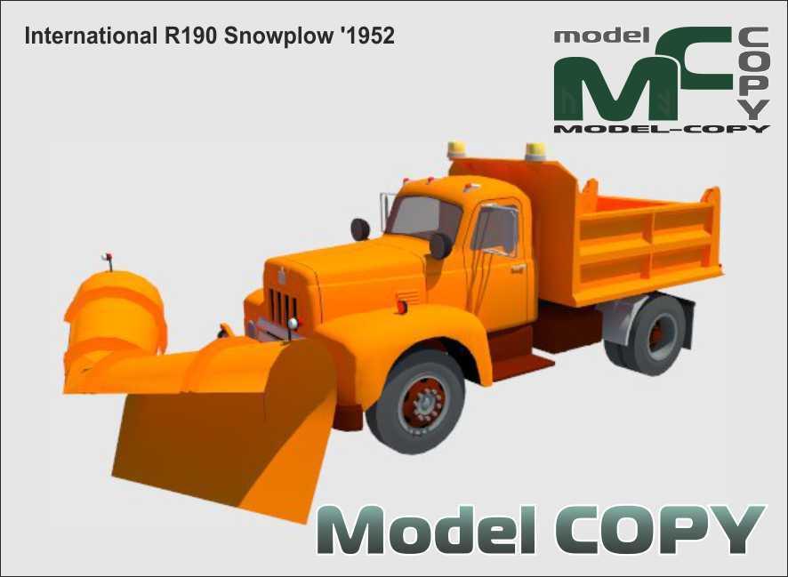 International R190 Snowplow '1952 - 3D Model