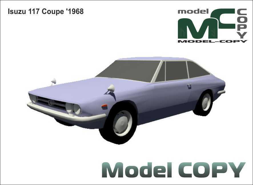 Isuzu 117 Coupe '1968 - 3D Model