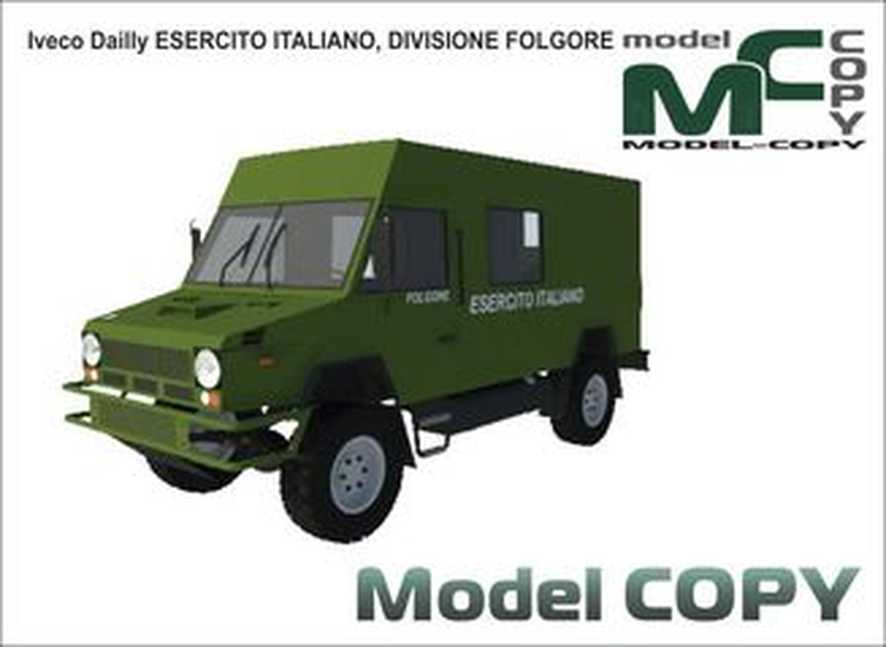 Iveco Dailly ESERCITO ITALIANO, DIVISIONE FOLGORE - 3D Model