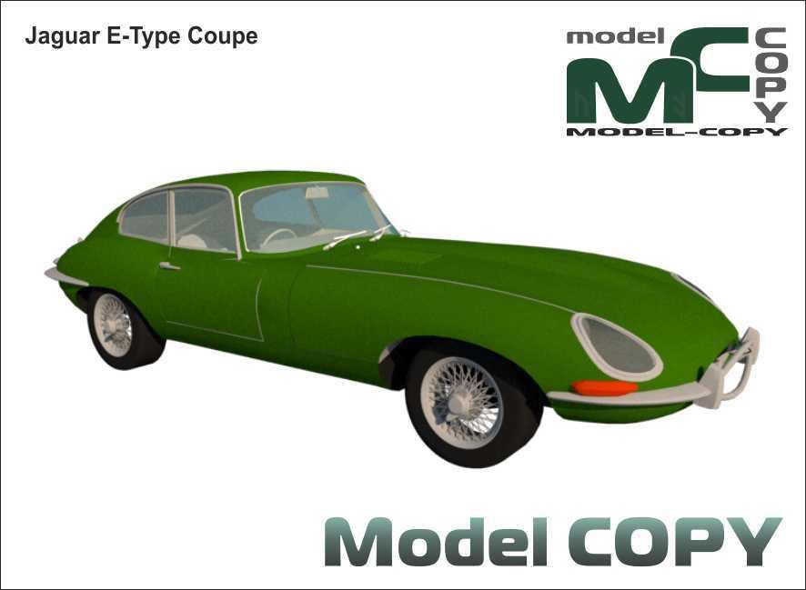 Jaguar E-Type Coupe - 3D Model