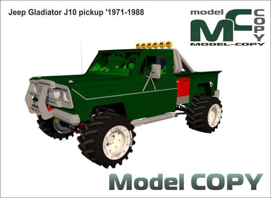 Jeep Gladiator J10 pickup '1971-1988 - 3D Model