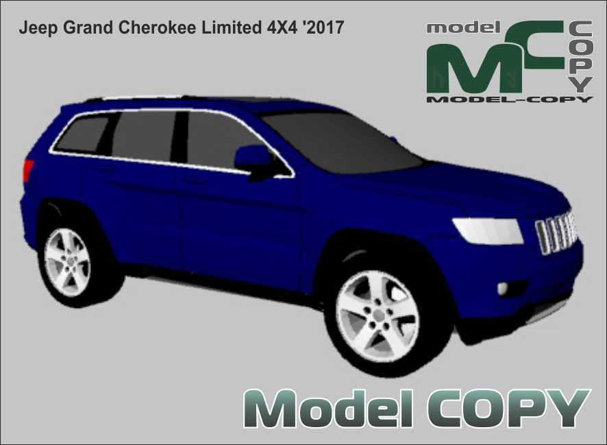 Jeep Grand Cherokee Limited 4X4 '2017 - 3D Model