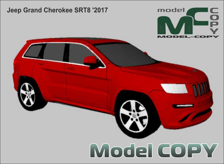 Jeep Grand Cherokee SRT8 '2017 - 3D Model