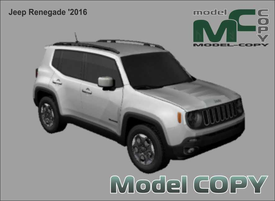 Jeep Renegade '2016 - 3Dモデル