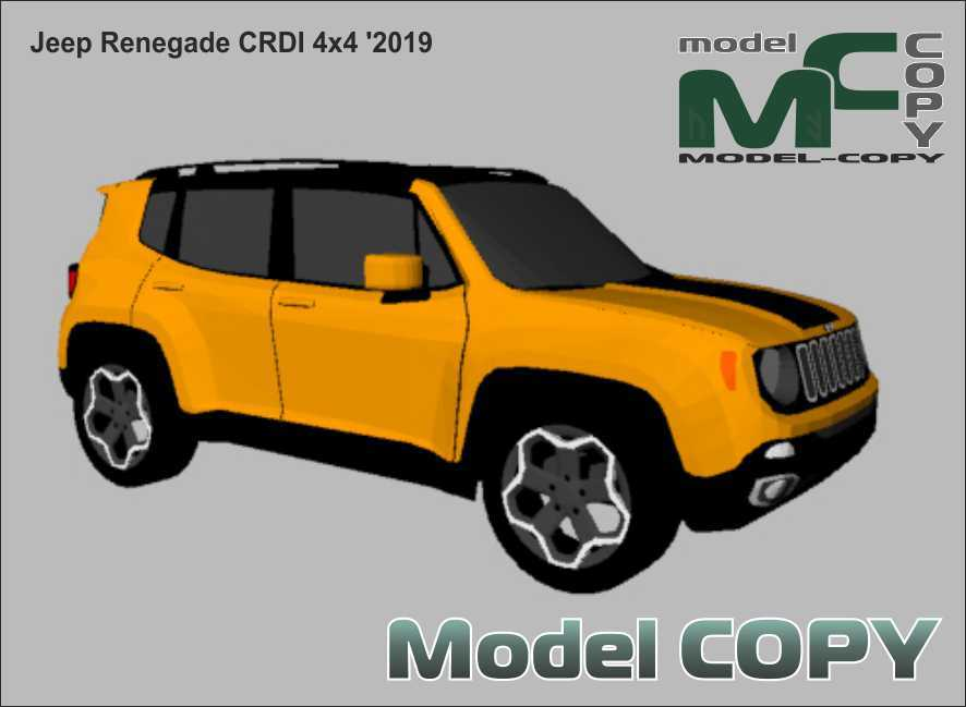 Jeep Renegade CRDI 4x4 '2019 - 3Dモデル