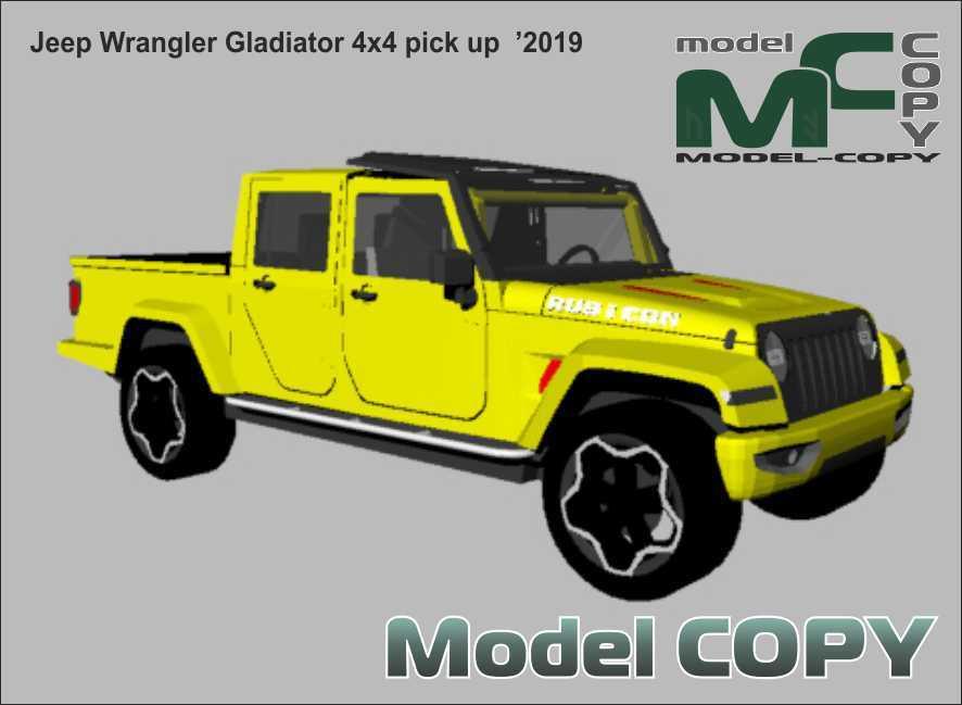 Jeep Wrangler Gladiator 4x4 pick up '2019 - 3D Model