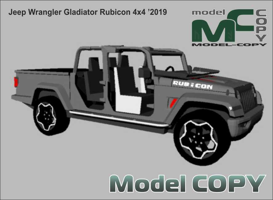 Jeep Wrangler Gladiator Rubicon 4x4 '2019 - 3Dモデル