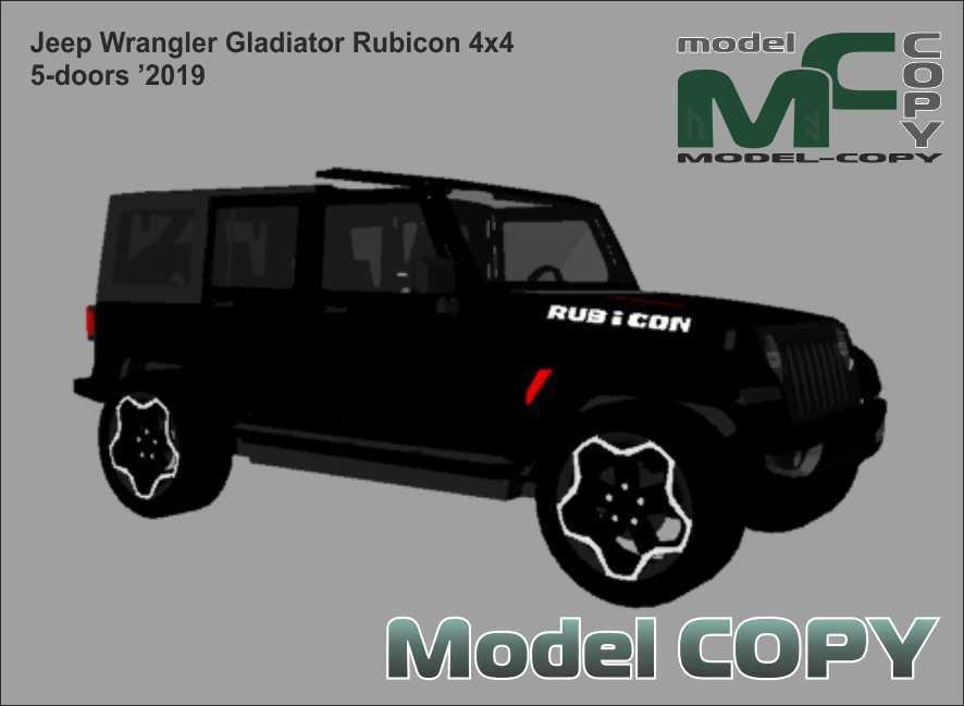 Jeep Wrangler Gladiator Rubicon 4x4 5-doors '2019 - 三維模型