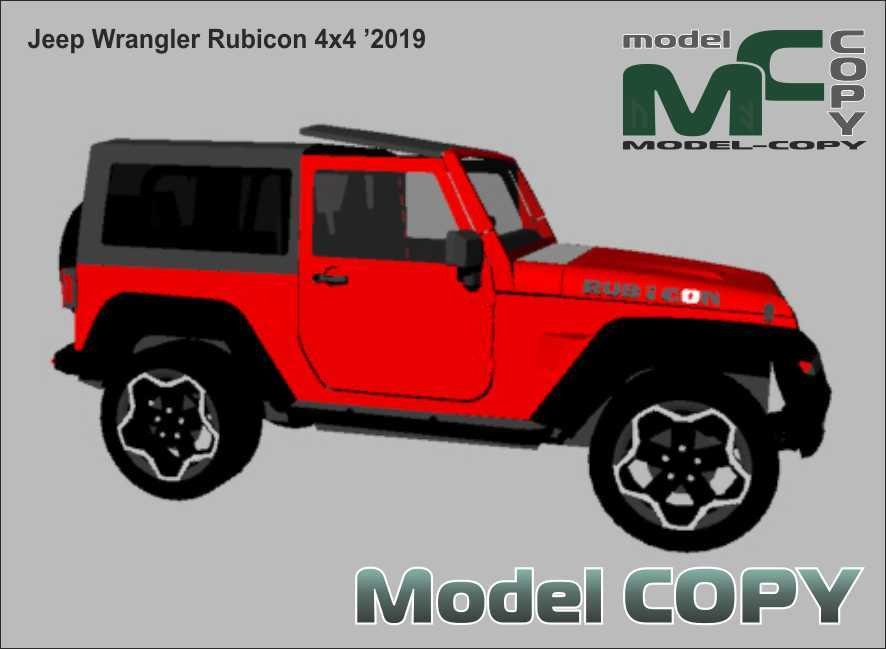 Jeep Wrangler Rubicon 4x4 '2019 - 3Dモデル