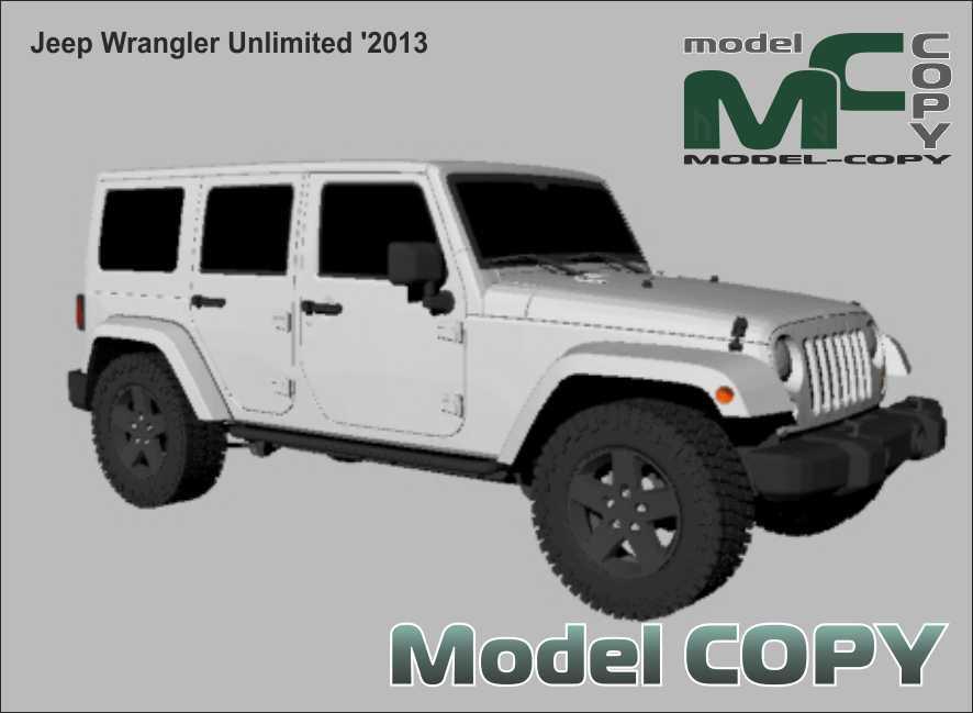Jeep Wrangler Unlimited '2013 - 3D-модель