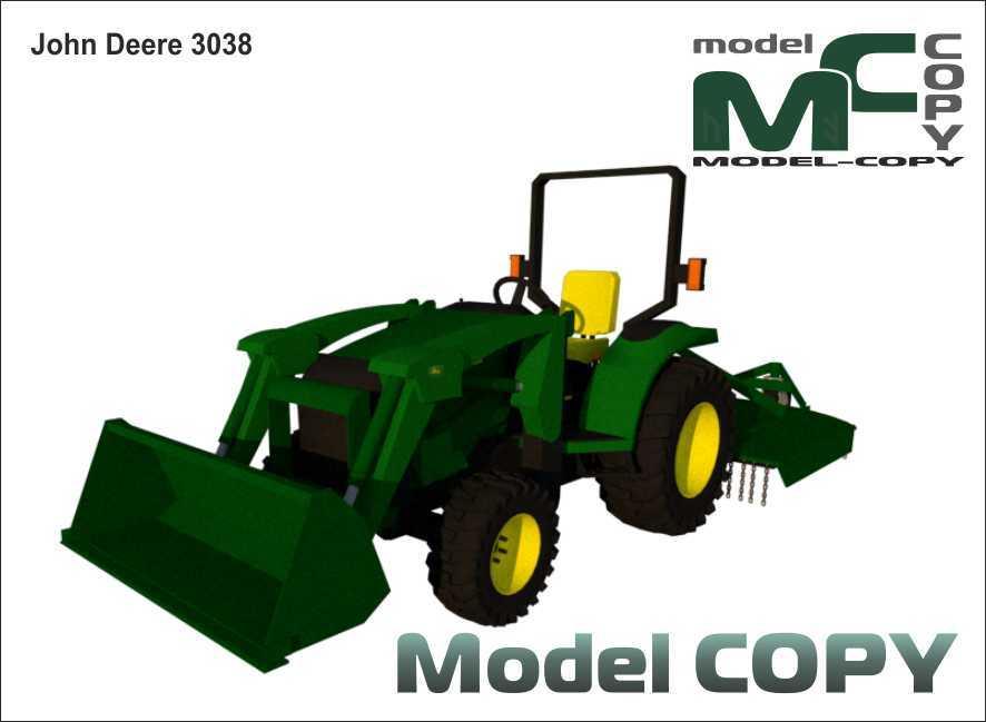 John Deere 3038 - 3D Model