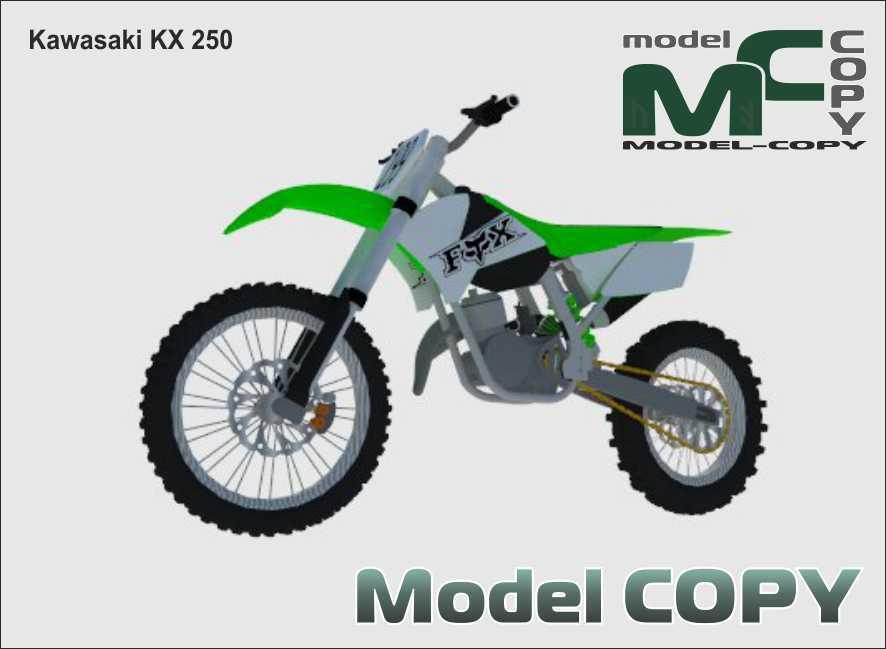 Kawasaki KX 250 - 3D Model