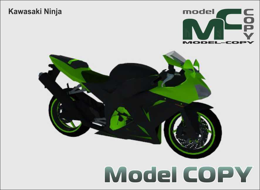 Kawasaki Ninja - mô hình 3D