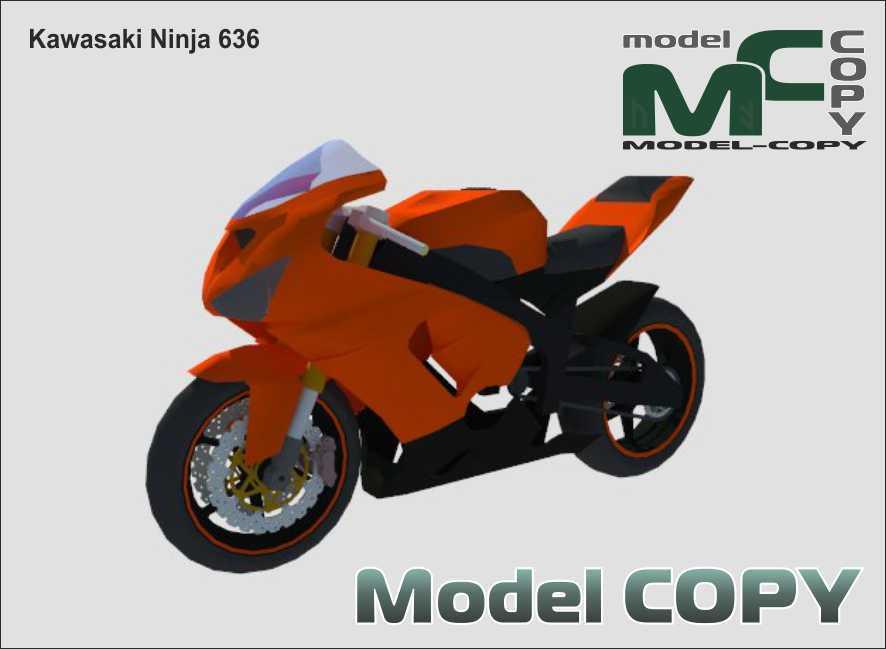 Kawasaki Ninja 636 - 3D Model