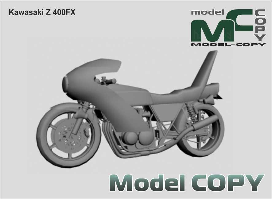 Kawasaki Z 400FX - 3D Model