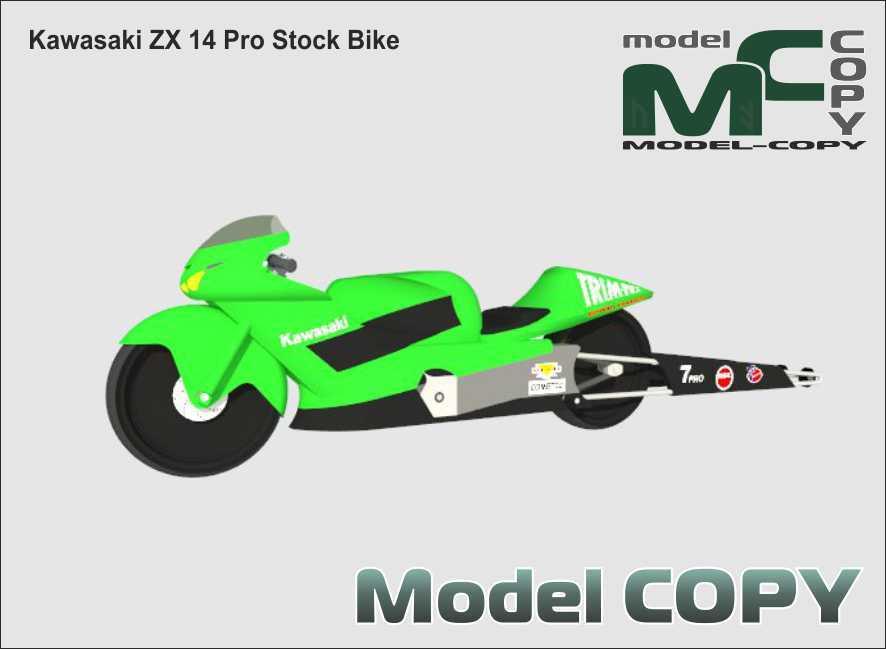 Kawasaki ZX 14 Pro Stock Bike - 3D Model