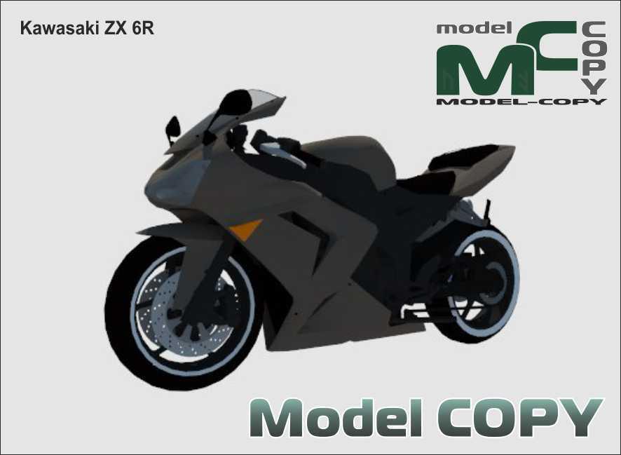 Kawasaki ZX 6R - 3D Model