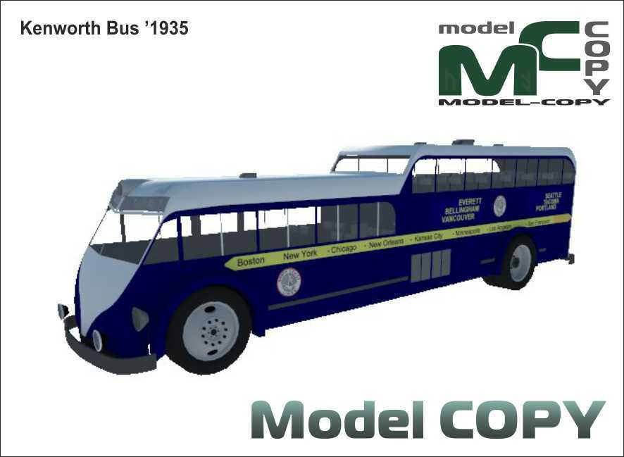 Kenworth Bus '1935 - 3D Model
