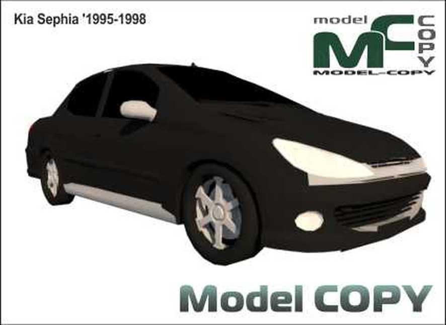 Kia Sephia '1995-1998 - 3 डी मॉडल