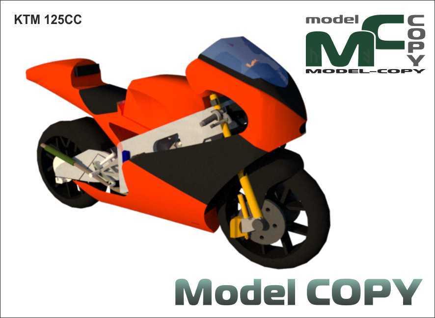 KTM 125CC - 3D Model