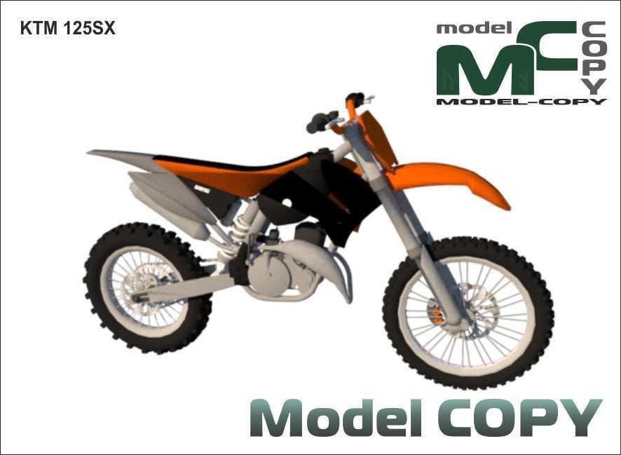 KTM 125SX - 3D Model