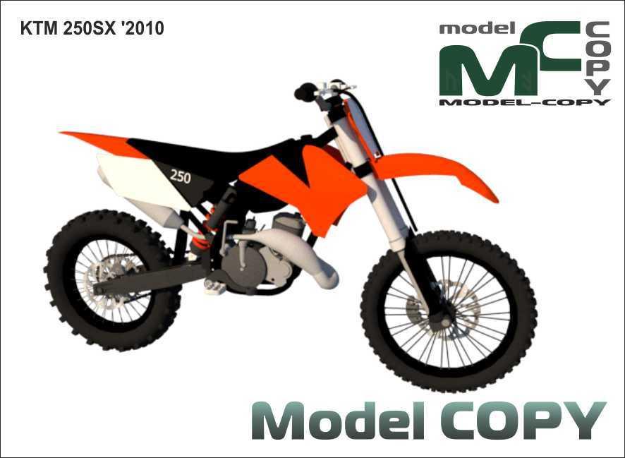 KTM 250SX '2010 - 3D Model