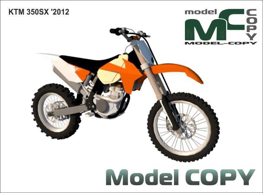 KTM 350SX '2012 - 3D Model