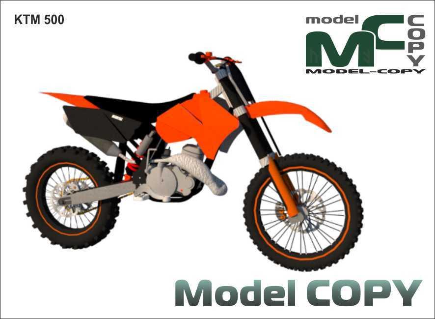 KTM 500 - 3D Model