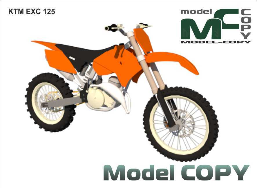 KTM EXC 125 - 3D-s modell