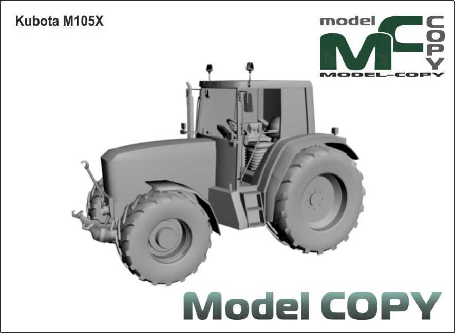 Kubota M105X - 3D Model
