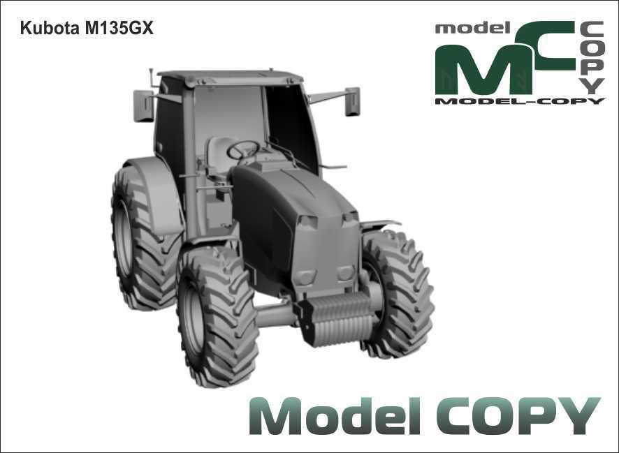 Kubota M135GX - 3D Model