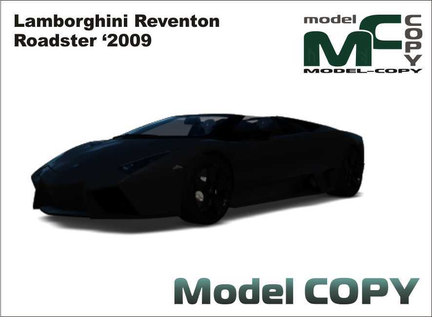 lamborghini reventon roadster 2009 3dモデル 19664 model copy